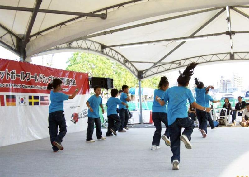 アメリカンフットボールワールドカップ2007川崎大会のイベントに参加しました。
