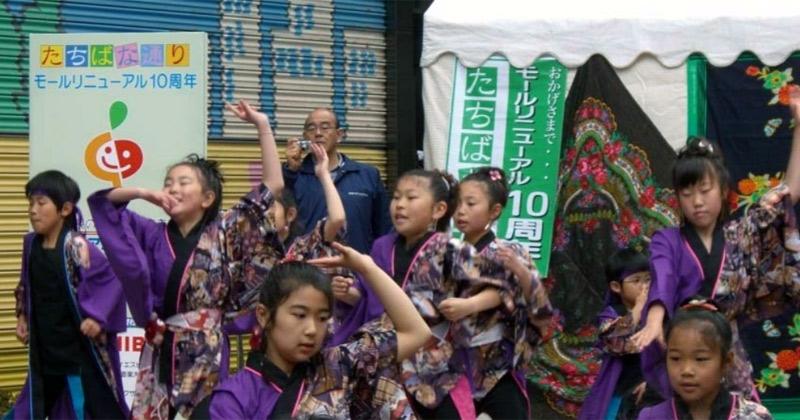 向っ子ダンサーズと夢桜が、2008アジア音楽交流祭・かわしんふれあい広場に出演し、5曲披露しました。