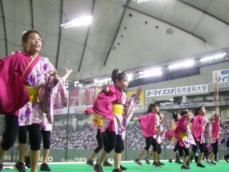 2009年8月26日、第80回都市対抗野球大会に出場した「東芝野球部」を東京ドームで応援しました。